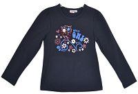 Topo Dievčenské tričko so sovou - tmavo modré, 104 cm