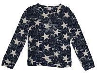 Topo Dievčenské úpletové tričko s hviezdičkami - modro-béžové, 128 cm