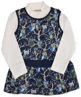 Topo Dievčenský dvojkomplet trička a šiat - farebný, 74 cm