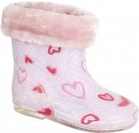 Trespass Dievčenské zateplené gumáky so srdiečkami Pitter - svetlo ružové, EUR 25