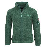 Trollkids Detská fleecová bunda Jondalen - tmavo zelená, 110 cm