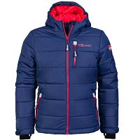 Trollkids Detská zimná bunda Hemsedal - modro-červená, 98 cm