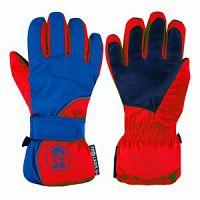 Trollkids Detské lyžiarske rukavice Troll - červeno-modré, 9-10 rokov