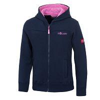 Trollkids Dievčenská bunda Bergen Sweat - modro-ružová, 110 cm