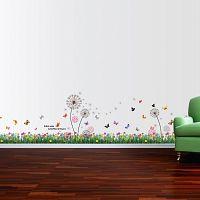 Walplus Samolepky na stenu Farebná tráva / púpavy, 175x70 cm