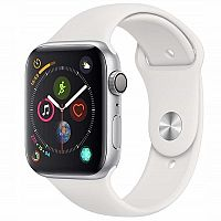 Apple Watch Series 4 GPS 44mm Aluminium Silver White Sport Band