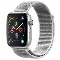 Apple Watch Series 4 GPS 44mm Aluminium Silver White Sport Loop