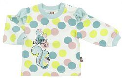 2be3 Dievčenské bodkované tričko s veveričkou - farebné, 86 cm