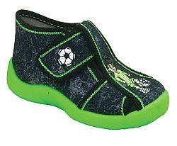 3F Chlapčenské členkové topánky s futbalistom - tmavo sivé, EUR 22