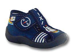 3F Chlapčenské papučky s lodičkou - modré, EUR 25