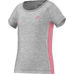 Adidas Dievčenské tričko, sivé, 110 cm