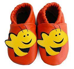 Afelo Detské kožené topánočky Včielka - oranžové, EUR 20