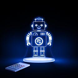 Aloka Nočné svetielko Robot + ovládač pre voľbu farieb
