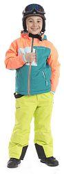 ALPINE PRO Chlapčenská zimná bunda Clearco - farebná, 158 cm
