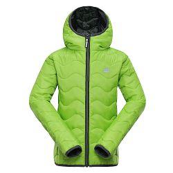 ALPINE PRO Chlapčenská zimná prešívaná bunda Solo - zelená, 104-110 cm