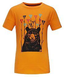 ALPINE PRO Chlapčenské tričko Silvano 3- žlté, 92-98 cm
