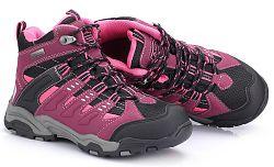 ALPINE PRO Dětská kotníková outdoorová obuv Balliol - fialovo-černá, EUR 28