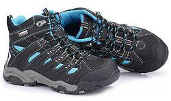 ALPINE PRO Dětská kotníková outdoorová obuv Balliol - modro-černé, EUR 33