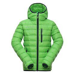 ALPINE PRO Detská prešívaná bunda Bartollo - zelená