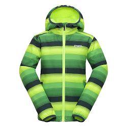 ALPINE PRO Detská softshellová bunda Roro - žlto-zelená