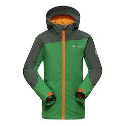 ALPINE PRO Detská športová bunda Humano - zelená, 152-158 cm