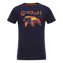 ALPINE PRO Detské tričko Silvano - čierne, 128-134 cm