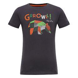 ALPINE PRO Detské tričko Silvano - hnedé, 104-110 cm