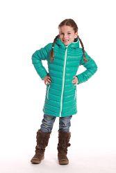 ALPINE PRO Dievčenský kabát Adrianna - zelený, 116-122 cm