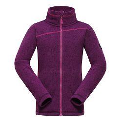 ALPINE PRO Dievčenský sveter Eneas - fialový, 104-110 cm