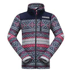 ALPINE PRO Dievčenský vzorovaný sveter Norge - farebný, 104-110 cm