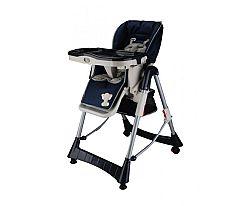 BabyGO Detská jedálenská stolička Maxi - tmavo modrá