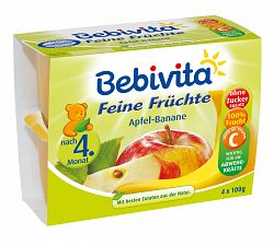 Bebivita Jablká s banánmi 4x100g
