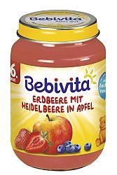 Bebivita Jablká s jahodami a čučoriedkami 6x190g