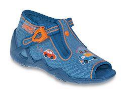 Befado Chlapčenské papučky s autíčkami Snake - modré, EUR 18