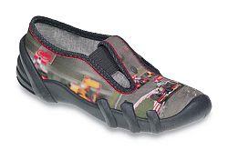 Befado Chlapčenské papučky s formulou Skate - šedé, EUR 34