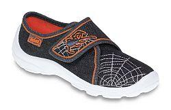 Befado Chlapčenské papučky s pavučinou Danny - čierne, EUR 27