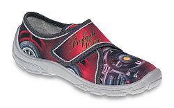 Befado Chlapčenské papučky s potlačou Danny - červeno-šedé, EUR 31