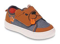 Befado Chlapčenské tenisky s medvedíkom Funny - hnedo-modré, EUR 25