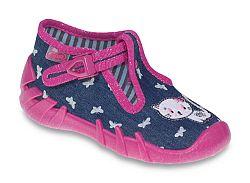 Befado Dievčenské papučky s mačičkou Speedy - ružovo-modré, EUR 23