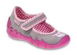 Befado Dievčenské papučky s mačičkou Speedy - ružovo-šedé, EUR 19