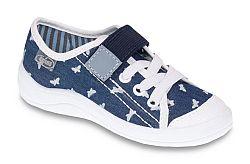 Befado Dievčenské tenisky s motýliky Tim - modré, EUR 27