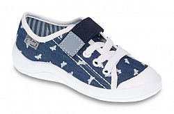 Befado Dievčenské tenisky s motýliky Tim - modré, EUR 31