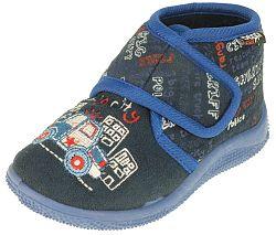 Beppi Chlapčenské členkové papučky s autom - modré, EUR 19
