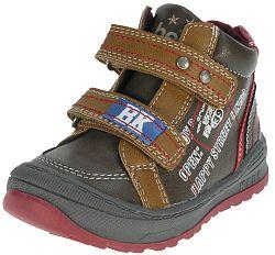 Beppi Chlapčenské členkové topánky s nápismi - hnedé, EUR 22