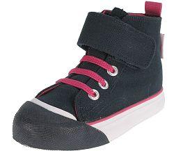 Beppi Dievčenské členkové tenisky - ružovo-čierne, EUR 24