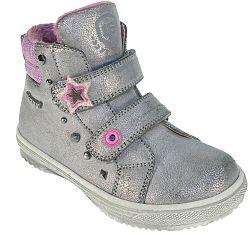 d9315d43fde6 Beppi Dievčenské členkové topánky s kožušinkou - sivé