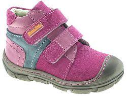 Beppi Dievčenské kožené členkové topánky - ružové, EUR 24