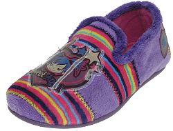 Beppi Dievčenské voňavé pruhované papučky - fialové, EUR 35