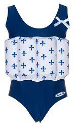 Beverly Kids Dievčenské nadnášajúca plavky - modro-biele, 104 cm