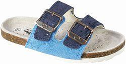 Big Fish Chlapčenské kožené šľapky - modré, EUR 32